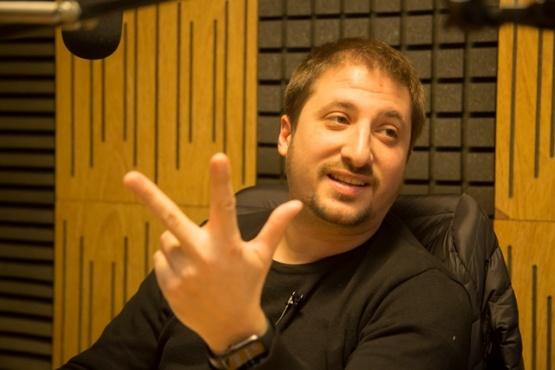 Zuliani en Tiempo FM. (C.G)