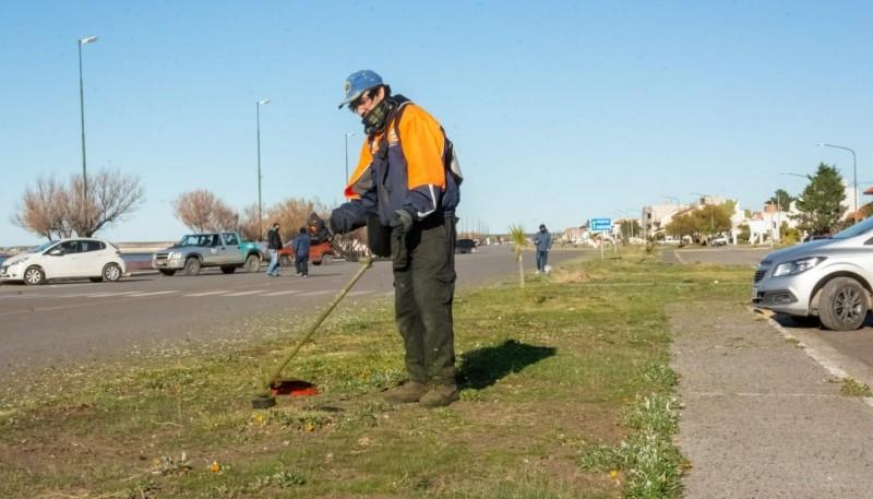 El municipio desplegó una logística de limpieza urbana y embellecimiento en el puerto