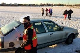 Esquiando en la Laguna Ortiz: lo ´tiraba´ con el auto y se lo terminaron secuestrando