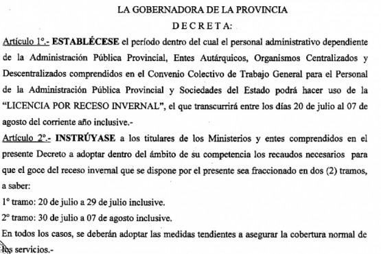 Decreto N° 828/20
