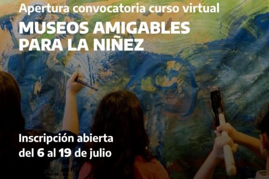 """Invitan a participar del curso virtual """"Museos amigables para la niñez"""""""