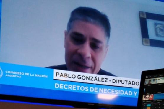 El Diputado Nacional por Santa Cruz Pablo González.