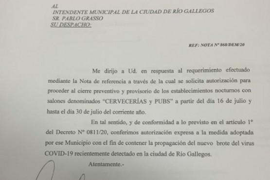 Provincia autorizó al municipio al cierre preventivo y provisorio de Cervecerías y Pubs