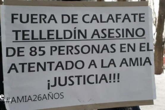 Repudiaron a Telleldin en El Calafate