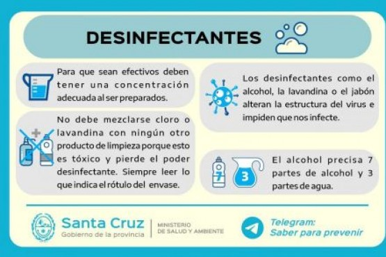 Cuidarse es cuidarnos: ¿Cómo podemos usar los desinfectantes?