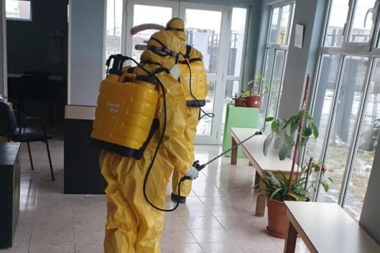 Obras Públicas: continúa la desinfección en Gimnasios Municipales