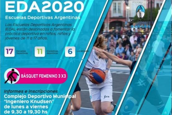 Ya están abiertas las inscripciones de las Escuelas Deportivas Argentinas