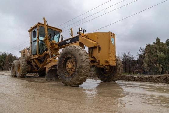 Municipalidad trabajó en la transitabilidad de las calles tras las intensas lluvias