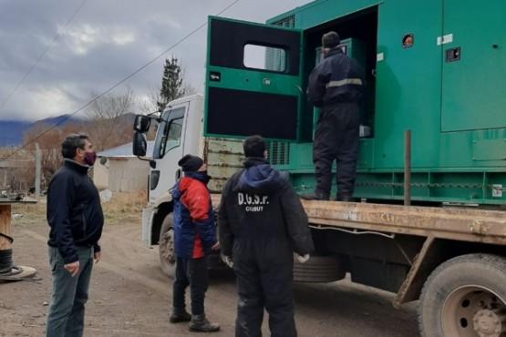 Provincia instaló un nuevo generador de energía en Paso del Sapo
