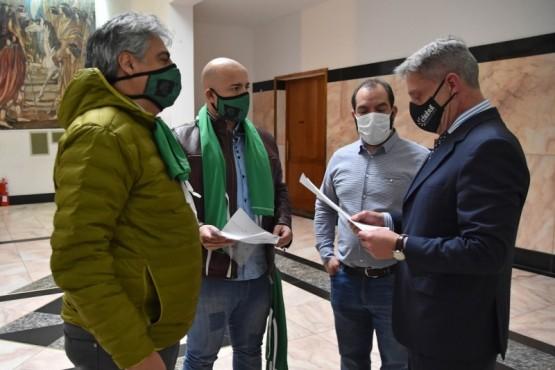 Arcioni recibió al Secretario General de ATE, Guillermo Quiroga
