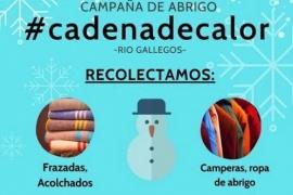 """""""#CadenaDeCalor"""" busca recolectar ropa y elementos de abrigo para familias sin calefacción"""