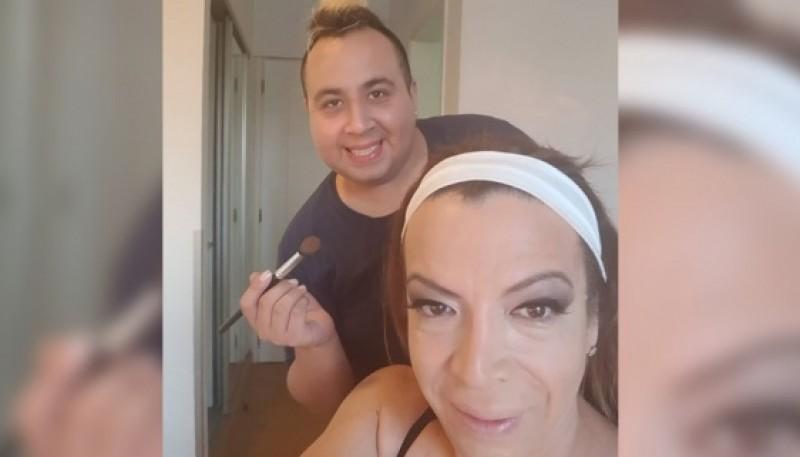Lizy Tagliani junto a La Floppy Cucu