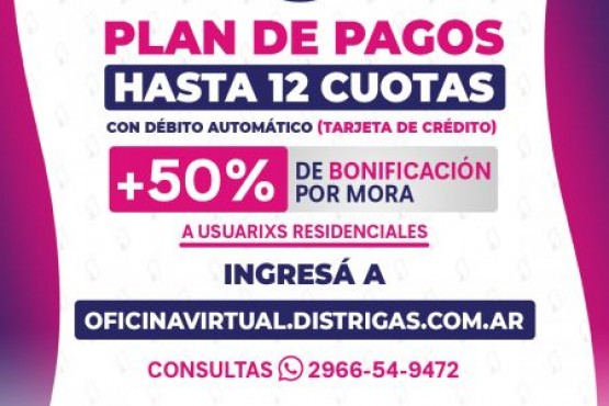 Distrigas propone facilidades de pago para regularizar deudas