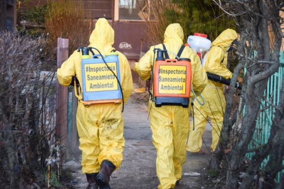 Municipio realiza desinfección en barrios