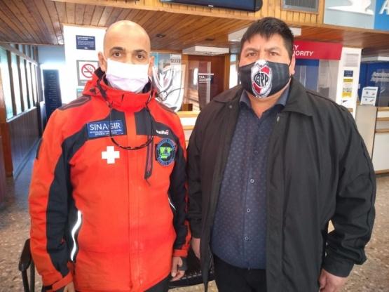 El Director Provincial de Defensa Civil y el vicepresidente de la Comuna Rural de Cushamen