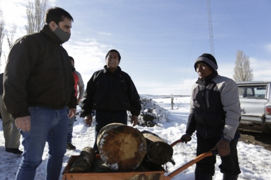 Gobierno continúa con la distribución de insumos en la zona afectada por la nieve