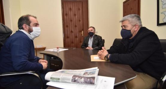 Grazzini recibió al Intendente de Gobernador Costa