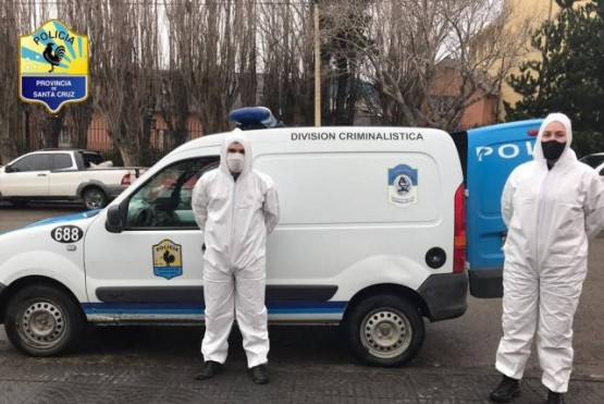 Se llevaron a cabo operativos de desinfección en las distintas dependencias de la Policía