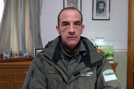El Comandante Leandro Cueto, jefe del Escuadrón 36 de Gendarmería Nacional