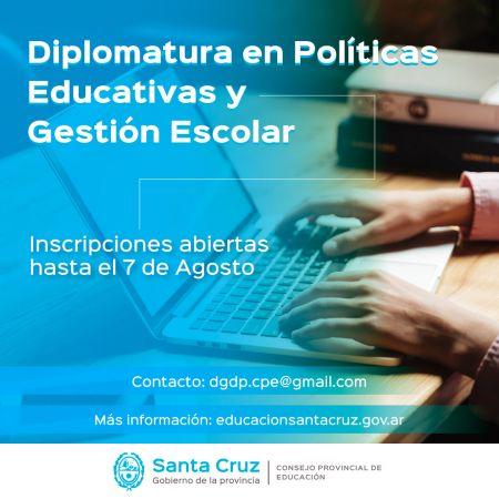 Se completó el cupo para la Diplomatura en Políticas Educativas y Gestión Escolar