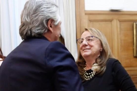 Alberto Fernández y Alicia Kirchner (foto archivo)