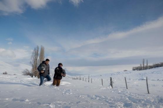 El Gobierno asiste con leña y alfalfa a los productores de Cushamen