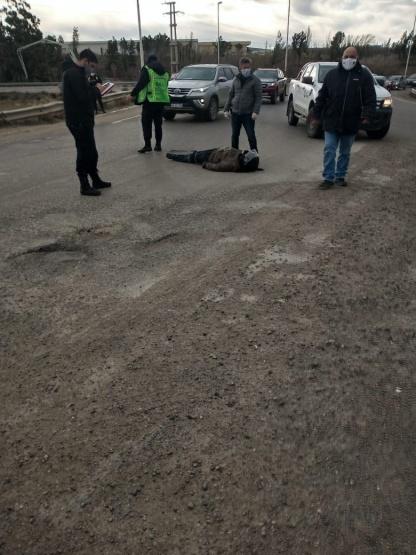 Remis colisionó contra una motocicleta