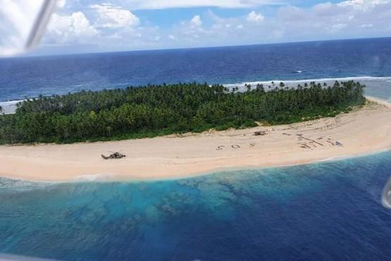 Un mensaje SOS en la arena salvó a marineros en una isla
