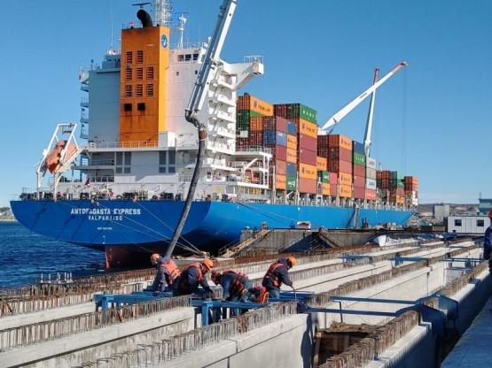 Recorrieron las obras de ampliación del Sitio 2 en el Muelle Almirante Storni