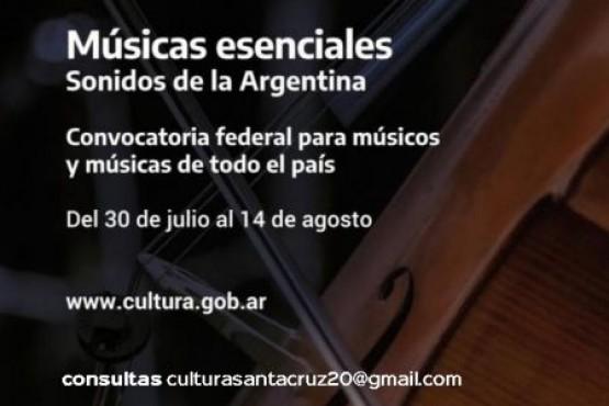 Convocatoria a músicos santacruceños del Ministerio de Cultura de la Nación