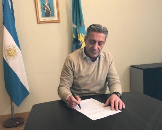 El gobernador, Mariano Arcioni,