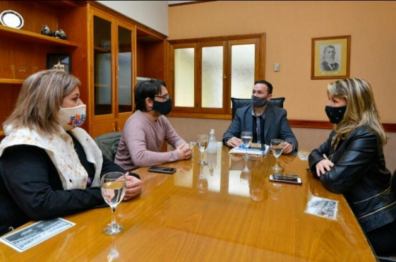 Maderna recibió al representante zonal del Instituto Nacional de Teatro