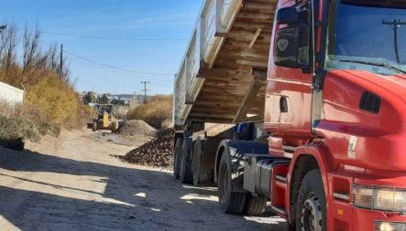 Vialidad Provincial acondicionó calles de la Ciudad