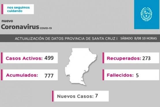 Coronavirus en Santa Cruz: 30 positivos y ya son 499 los casos activos
