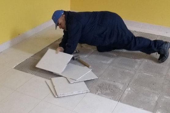 Obras Públicas de la Provincia refacciona la Escuela N° 31 de Cerro Cóndor