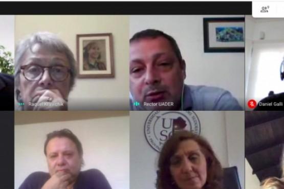 Encuentro virtual con Jaime Perczyk para fortalecer a las universidades provinciales