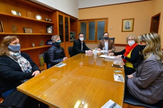 Maderna se reunió con autoridades del Rotary Club