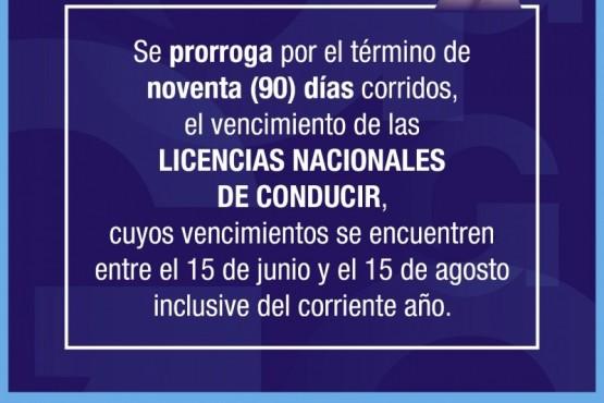 Grasso dispuso la prórroga del vencimiento de licencias nacionales de conducir por 90 días