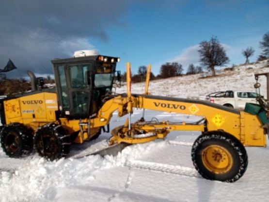 Vialidad despejó la nieve de la ruta 40