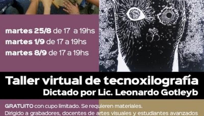 Artes Visuales abrió la convocatoria para un nuevo taller gratuito y virtual de tecnoxilografía