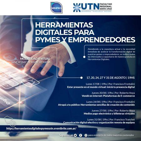 """Abren inscripciónpara el curso """"Herramientas Digitales para Pymes y Emprendedores"""""""
