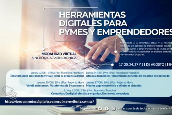"""Inscripciones para el curso """"Herramientas Digitales para Pymes y Emprendedores"""""""