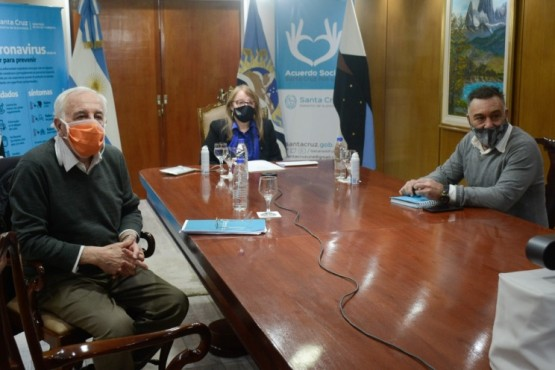 Alicia dialogó con el presidente de la nación