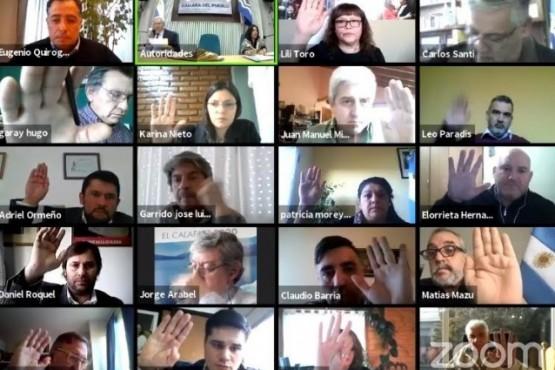 Sesión virtual de diputados.
