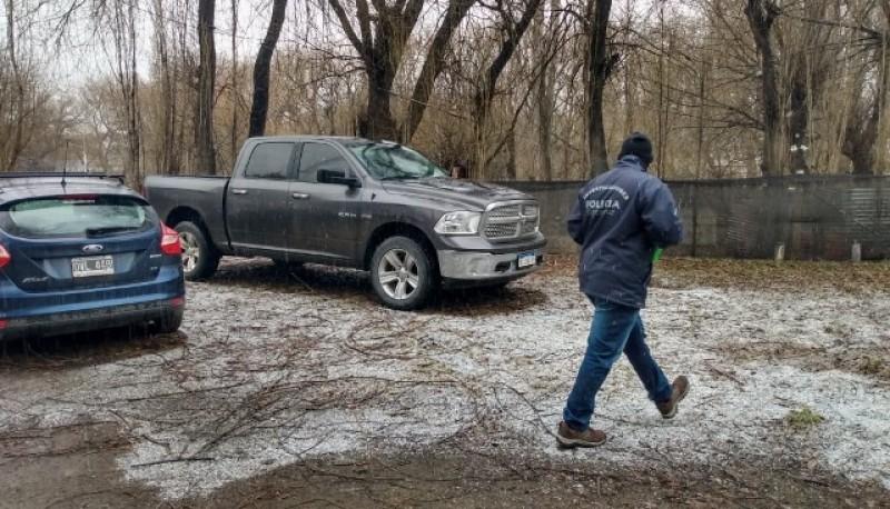 Camioneta secuestrada por el personal de la DDI de El Calafate.