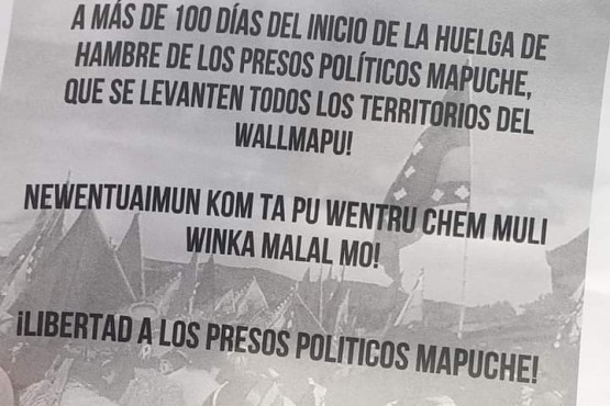 Comunidad mapuche cortó el tránsito en la ruta 40