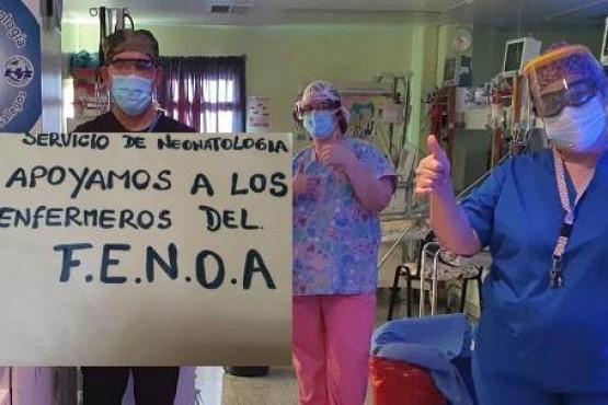 Gran apoyo de los profesionales de la salud a los enfermeros de FENOA