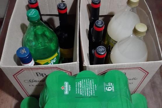 Las bebidas que fueron secuestradas.