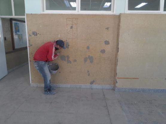 Gobierno avanza con la refacción de la Escuela N° 775 de Puerto Madryn