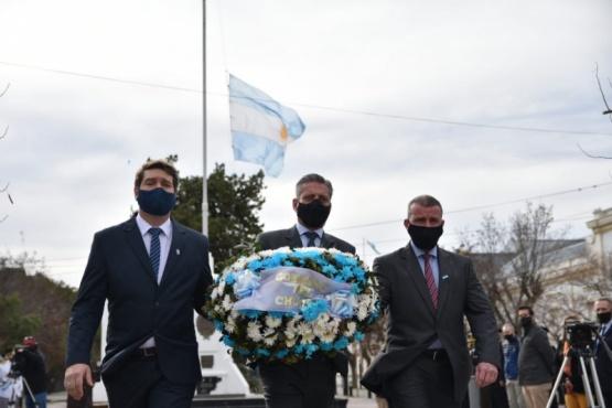Arcioni encabezó el acto de homenaje al General José de San Martín